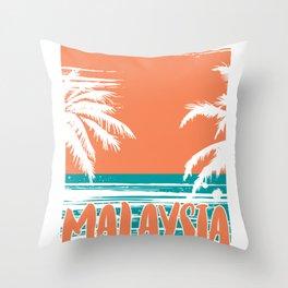 Malaysia Beach Throw Pillow