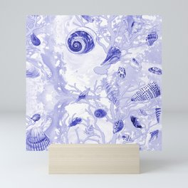 Shells - Deep Blue - Casart Sea Life Treasures Collection Mini Art Print