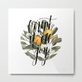 Count It All Joy Metal Print