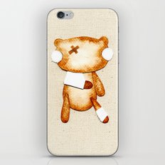 Poorly Sick - Get Well Soon Zombie Bear iPhone & iPod Skin