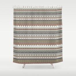 Tribal clay Shower Curtain