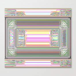 Moderne Glitch Canvas Print