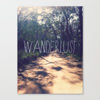 wanderlust Canvas Prints featuring Wanderlust by Louise