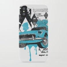 Blue Car iPhone X Slim Case
