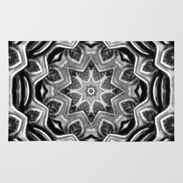 Black-and-White Abstract 21 Rug