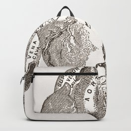Love you with all my heart vintage illustration Backpack