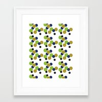 gold dots Framed Art Prints featuring Dots by Laura Huebner