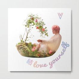 BTS Love Yourself Answer Design - V Metal Print