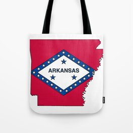 Arkansas Map with Arkansan Flag Tote Bag