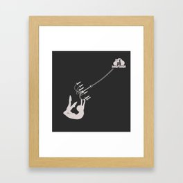 Swing from the Chandalier Framed Art Print