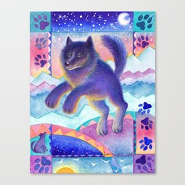 Remember Romeo the Wolf Canvas Print
