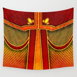 Fire Mage Warlock Armor Costume Wall Tapestry