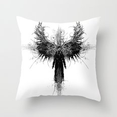 Particles and Angels Throw Pillow