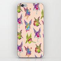 fairies iPhone & iPod Skins featuring Fairies by Elizabeth Kate