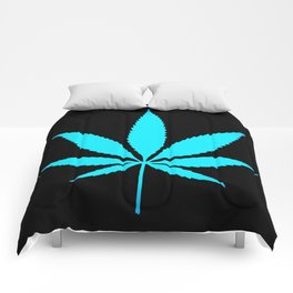Weed : High Time Blue Comforters