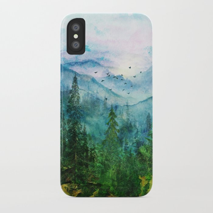 spring mountainscape iphone case