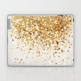 Sparkling Gold Glitter Glam #2 #shiny #decor #art #society6 Laptop & iPad Skin