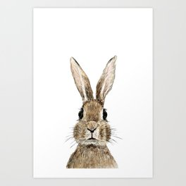 cute innocent rabbit Art Print