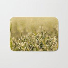 young grass plants, close-up Bath Mat