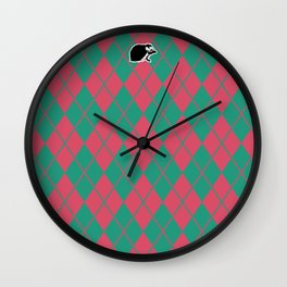 Shinbone's Green Nightie 2 Wall Clock