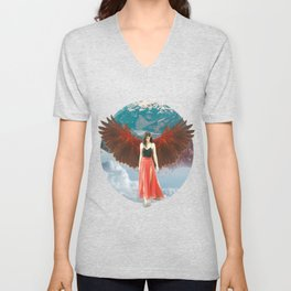 Lady of the Clouds Unisex V-Neck