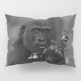 Cheeky Gorilla Lope Mono Pillow Sham