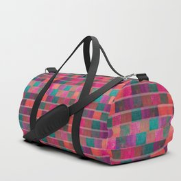 """Full Color Squares Pattern"" Duffle Bag"