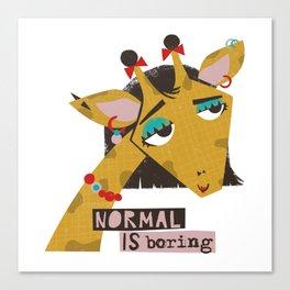 Stylish giraffe Canvas Print