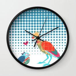Nerd Birds Wall Clock