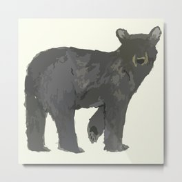 Winter Bearies Metal Print