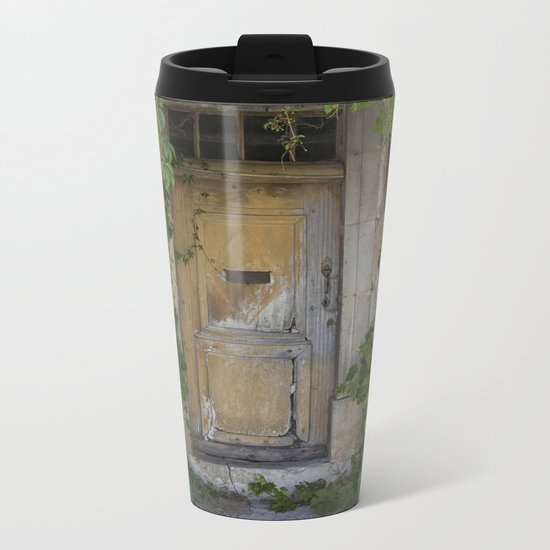 Provence Door covered with green vines Metal Travel Mug