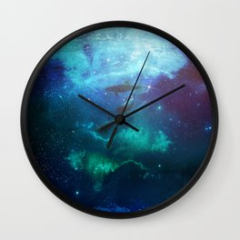 Mystic Dolphins Underwater Scenery Wall Clock
