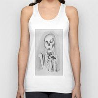 skeleton Tank Tops featuring Skeleton by Ellen Norden