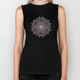 Lotus and Blush Biker Tank