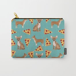 chihuahua pizza dog lover pet gifts cute pure breed chihuahuas Carry-All Pouch