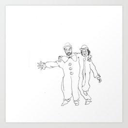Clown Parents Art Print