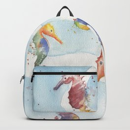 Colorful Seahorses Backpack
