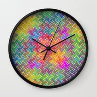 hippy Wall Clocks featuring Hippy by HK Chik
