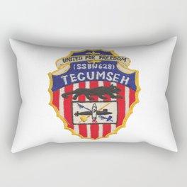 USS TECUMSEH (SSBN-628) PATCH Rectangular Pillow