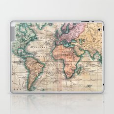 Vintage World Map 1801 Laptop & iPad Skin