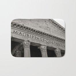 The Pantheon black and white Bath Mat