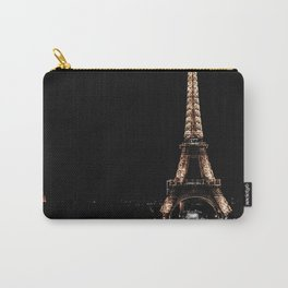 Gold Eiffel Tower Carry-All Pouch