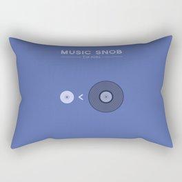 "NOT ""The New Vinyl"" — Music Snob Tip #082 Rectangular Pillow"