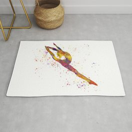Rhythmic gymnastics competition in watercolor 03 Rug