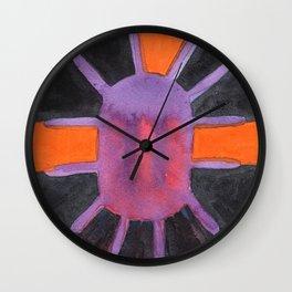 Purple Projector Wall Clock