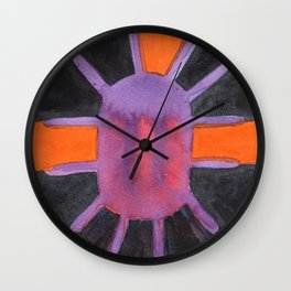Purple Projector Wall Clock