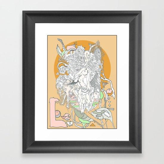 Love is Golden Framed Art Print