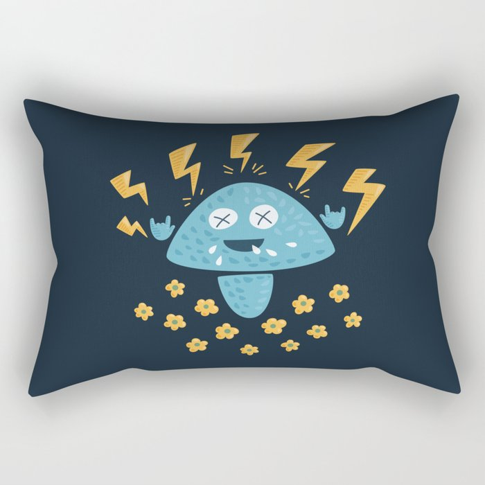 Heavy Metal Mushroom Rectangular Pillow