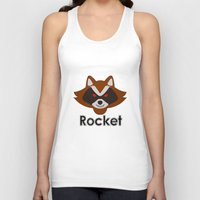 rocket raccoon Tank Tops featuring Rocket by Pop Culture Fanatics