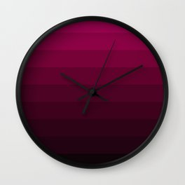Black and Burgundy Ombre striped Wall Clock